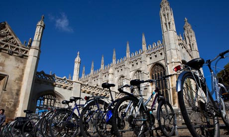 Bicycles outside Kings College Cambridge