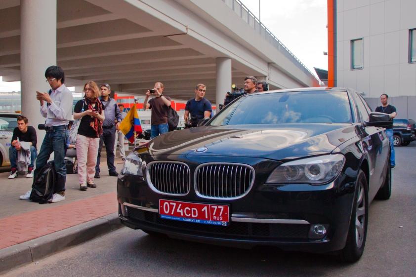 Ecuadorean Embassy car at Moscow airport