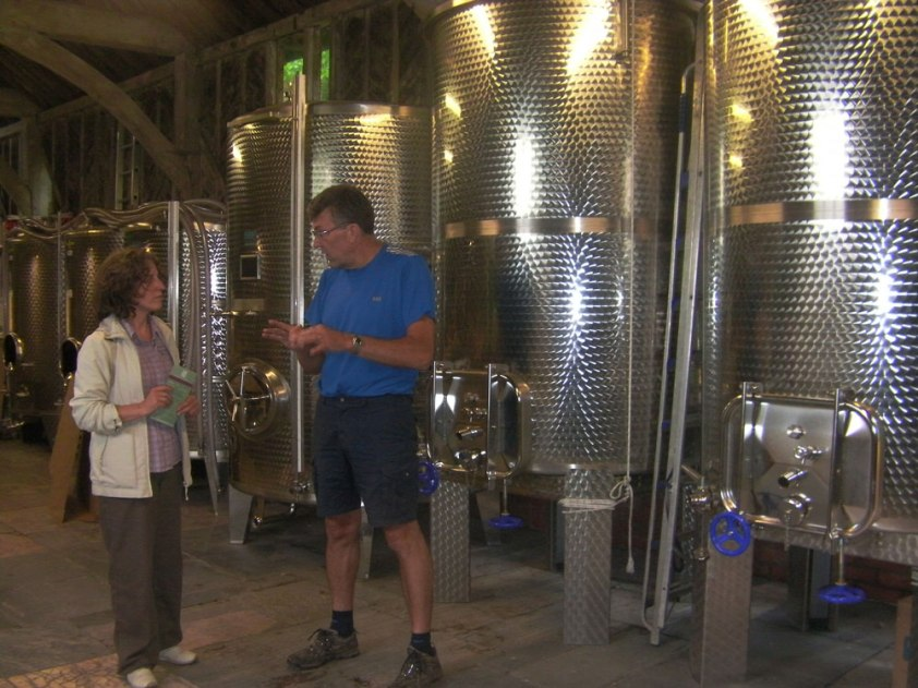 Winemaker-Mark-Barnes-with-Christine-at-Chilford