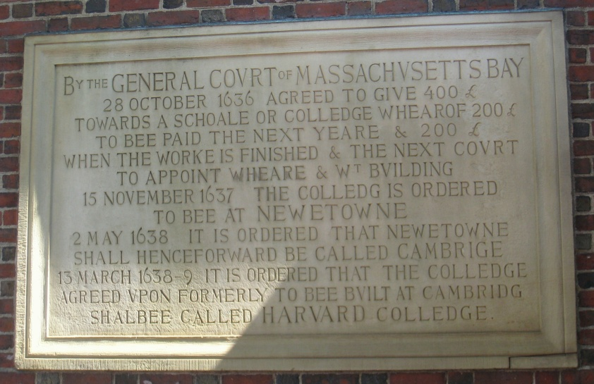 Harvard_Colledge_plaque,_Harvard_University_-_IMG_8970