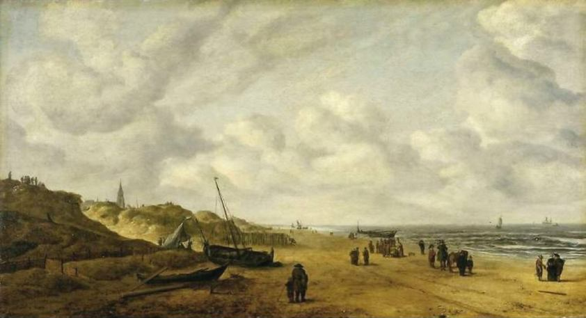 View-of-Scheveningen-Sands-by-Hendrick-van-Anthonissen-before